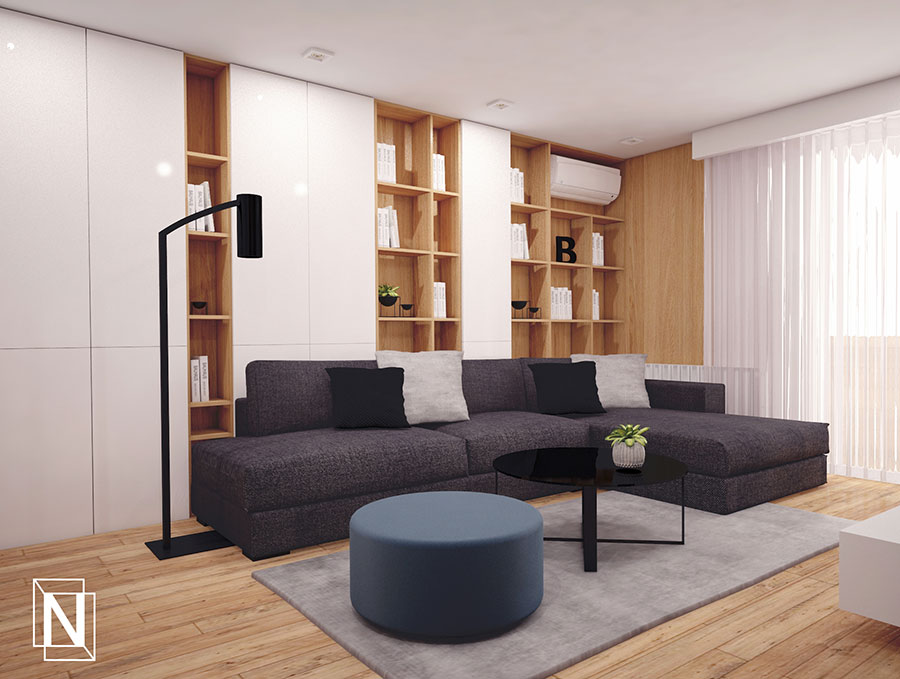 интериорен дизаий на апартамент-дневна
