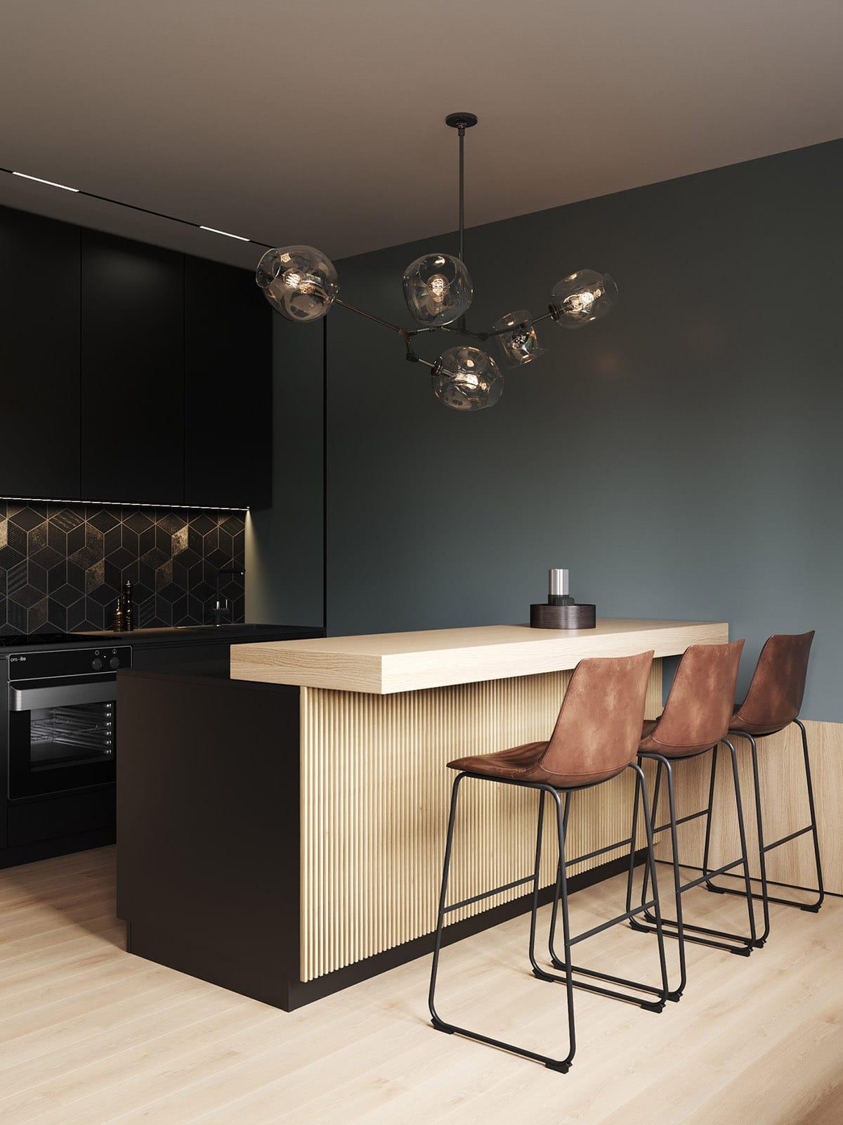 Brown-kitchen-bar-stools