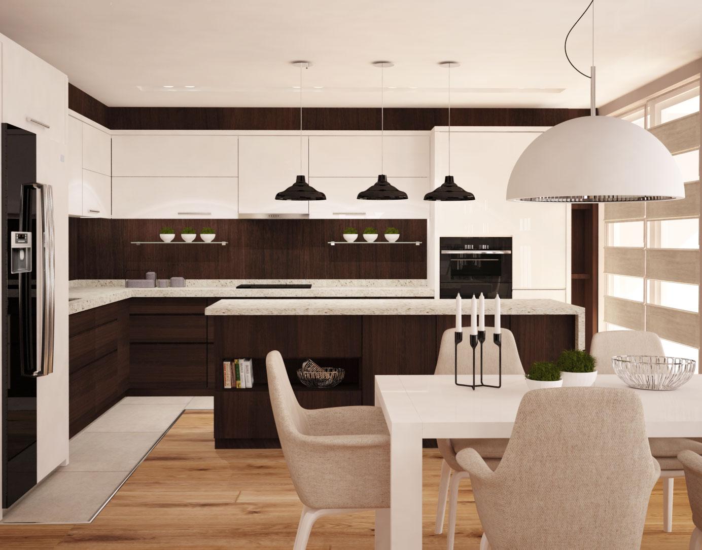 интериорен проект за кухня с трапезария