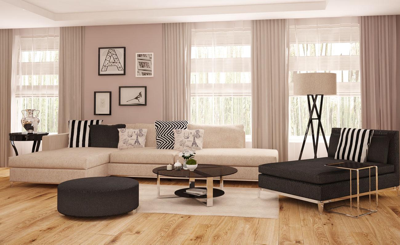 интериорен дизайн на дневна от апартамент